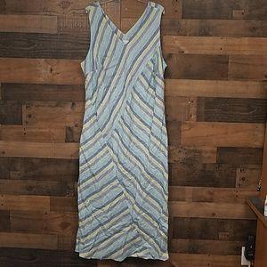 J Jill 100% linen maxi dress Size 3X